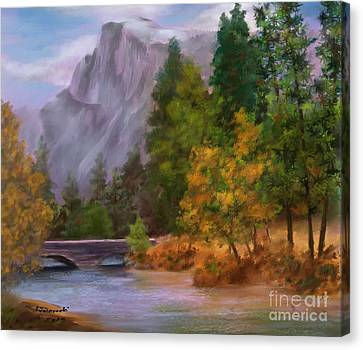 Yosemite Valley Half Dome Canvas Print by Judy Filarecki