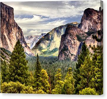 Yosemite Valley Painting Tunnel View Canvas Print