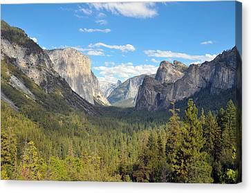 Yosemite Valley Canvas Print by Paul Van Baardwijk