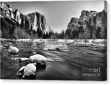 Yosemite Valley Canvas Print by Peter Dang