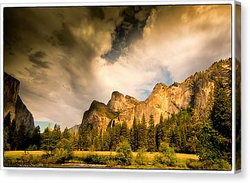 Canvas Print featuring the photograph Yosemite Valley Spring 2013 by Janis Knight