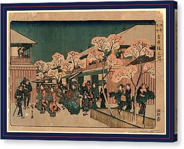 Yoshiwara Sakura No Zu Canvas Print