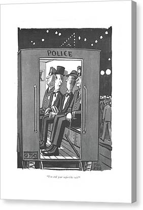 Arrest Canvas Print - You And Your Rapierlike Wit! by Peter Arno
