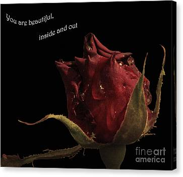 You Are Beautiful Inside And Out Canvas Print