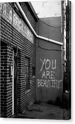 You Are Beautiful Canvas Print by Nathan Hillis