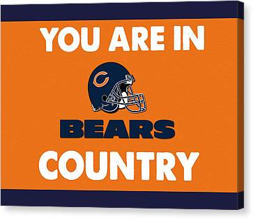 You Are In Bears Country Canvas Print by Celestial Images