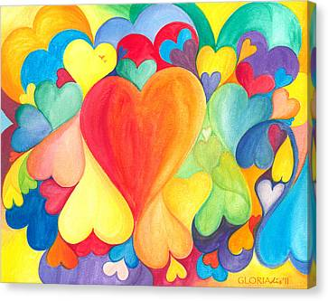 You Are Love - Tu Sei Amore Canvas Print by Gloria Di Simone