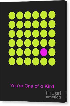 Lime Canvas Print - You Are One Of A Kind by Aimelle