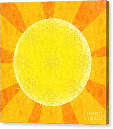 Sun Rays Canvas Print - You Are The Sunshine Of My Life by Andee Design