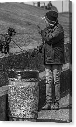 You Be A Good Dog Canvas Print by Paul Donohoe