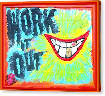 Canvas Print featuring the painting You Better Work It Out by Lisa Piper