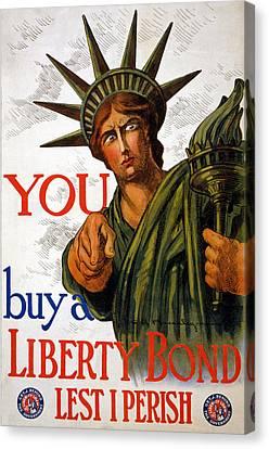You Buy A Liberty Bond, 1917 Canvas Print by Charles Raymond Macauley