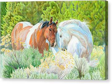 You Can Lean On Me Canvas Print by Audrey Van Tassell