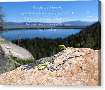 Canvas Print featuring the photograph You Can Make It. Inspiration Point by Ausra Huntington nee Paulauskaite