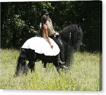 Canvas Print featuring the photograph You May Kiss The Bride by Carol Lynn Coronios