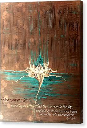 You Must Be A Lotus Canvas Print