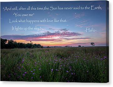 Rural Landscapes Canvas Print - You Owe Me by Bill Wakeley