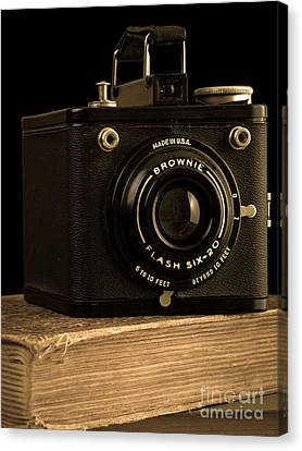 You Push The Button We Do The Rest Kodak Brownie Vintage Camera Canvas Print