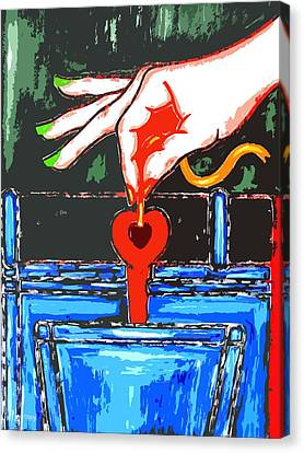 You Stole The Key To My Heart Canvas Print by Patrick J Murphy