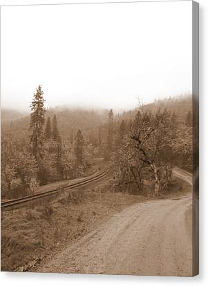 Canvas Print featuring the photograph You Take The High Road And I Will Take The . . .  by Marie Neder