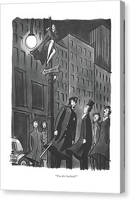 You The Husband? Canvas Print by Peter Arno