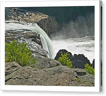 Canvas Print featuring the photograph Yough Falls Wat 217 by G L Sarti