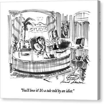 Shakespeare Canvas Print - You'll Love It!  It's A Tale Told By An Idiot by Bernard Schoenbaum