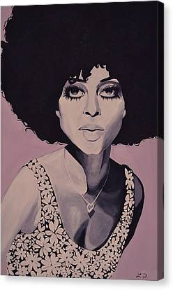 Diana Ross Canvas Print - Young And Beautiful Diana by Lakeisha Phillips