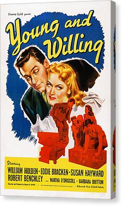 Young And Willing, Us Poster, Eddie Canvas Print by Everett