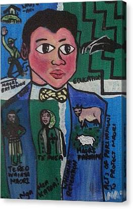 Young Apirana Ngata Canvas Print by Hori Kiwara