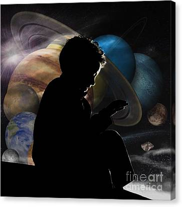 Young Astrophysicist - No.9188 Canvas Print by Joe Finney