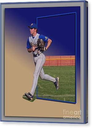 Young Baseball Athlete Canvas Print by Thomas Woolworth