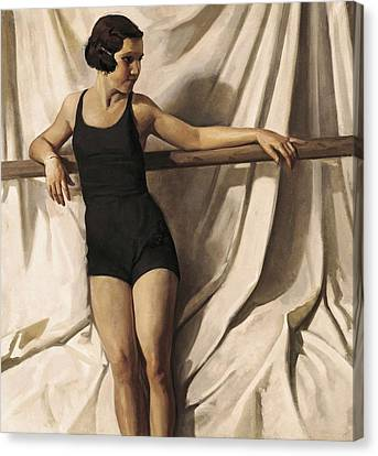 Young Bather. 1st Half 20th C. Artists Canvas Print by Everett
