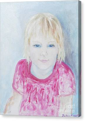 Young Blue-eyed Girl  Canvas Print by Barbara Anna Knauf