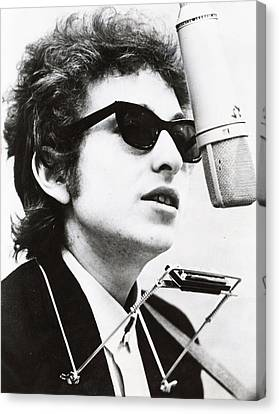 Rock Music Canvas Print - Young Bob Dylan by Retro Images Archive