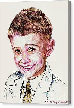 Young Boy Canvas Print by PainterArtistFINs Husband MAESTRO