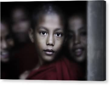 Young Burmese Monks 1 Canvas Print by David Longstreath