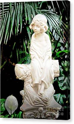 Young Child Statue Canvas Print
