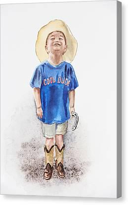 Young Cowboy  Canvas Print by Irina Sztukowski