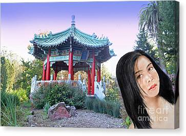 Filipina Canvas Print - Young Filipina Beauty With A Mole Model Kaye Anne Toribio  Altered Version II by Jim Fitzpatrick