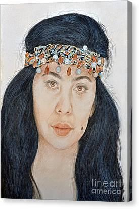 Filipina Canvas Print - Young Filipina Beauty With A Mole Model Kaye Anne Toribio  II by Jim Fitzpatrick