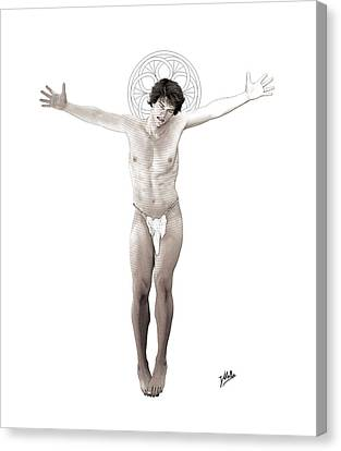 Young Crucified Canvas Print by Quim Abella