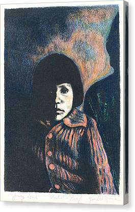 Young Girl Canvas Print by Kendall Kessler
