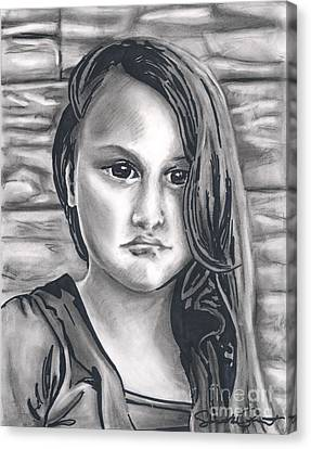 Young Girl- Shan Peck Contest Canvas Print by Samantha Geernaert