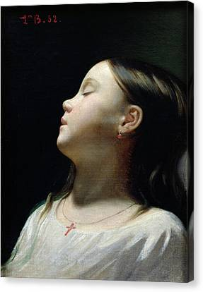 Youthful Canvas Print - Young Girl Sleeping by Leon Joseph Florentin Bonnat