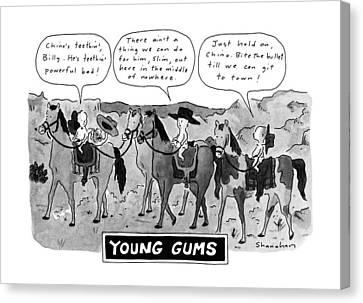 Gangs Canvas Print - Young Gums by Danny Shanahan