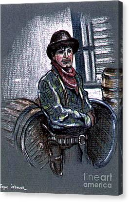 Canvas Print featuring the painting Young Gunfighter by Joyce Gebauer