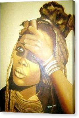Young Himba Girl - Original Artwork Canvas Print