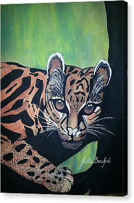 Young In Wild Canvas Print