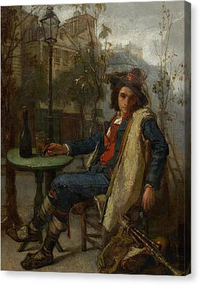 Italian Street Canvas Print - Young Italian Street Musician by Thomas Couture